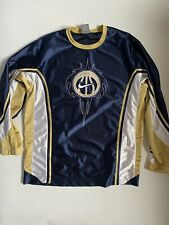 Nike Pullover Basketball Jersey Blue Gold Long Sleeve Youth Xl 18-20 Euc