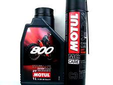 1 Litro Aceite PARA MOTOS MOTUL 800 Off Road Factoría LINE + GRASA DE CADENA C3
