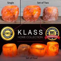 100% NATURAL HIMALAYAN CRYSTAL ROCK SALT CANDLE TEA LIGHT HOLDER X1, X2 or X4