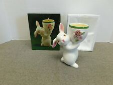 Vintage Avon Easter Sunny Bunny  Ceramic Candle Holder in Original Box 1981
