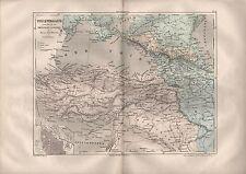 Landkarte map 1856: TÜRKEI. WEST-ASIEN. Russland Österreich Italien
