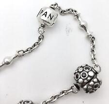 Solid Sterling Silver Pandora Bracelet Designer Fashion Fine Jewelry 3 Charms