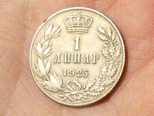 More details for 1925 yugoslavia alexander i, 1 dinara  coin #ts87
