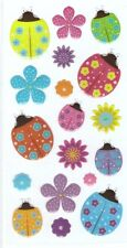 3D Epoxy Gel Stickers Ladybirds Flowers for Scrapbooking sticker Album school