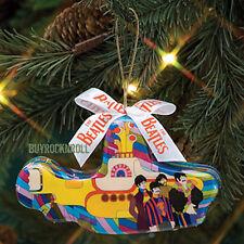 Beatles Collectible: 2007 Vandor Yellow Submarine Decoupage Christmas Ornament