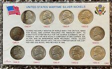 Silver Wartime Nickel Set 1942-1945