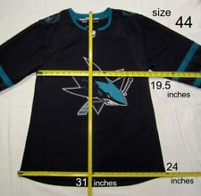 SAN JOSE SHARKS size 44 = XSmall STEALTH ADIDAS NHL HOCKEY JERSEY Alternate 3rd