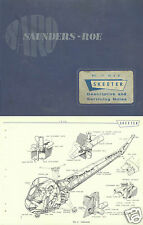 Saunders-Roe Skeeter Historic Service Manual Archive rare SARO 1958 Helicopter