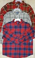 NEW Lot Of 3 George Men's Size 3XL Plaid Flannel Button Long Sleeve Shirts