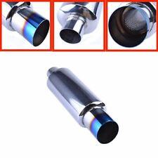 """2"""" Inlet 3"""" Outlet Exhaust Muffler Exhaust Tip Burnt Muffler Stainless Universal"""
