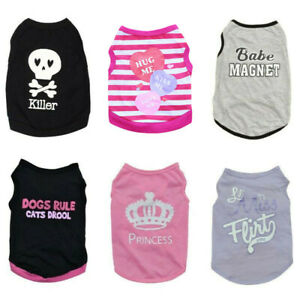 Small Dog Clothes Pet Puppy Cat Tee Shirt for Chihuahua teacup Dog yorkie