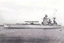 rp16758 - Royal Navy Warship - HMS Nelson , built 1927 - photo 6x4