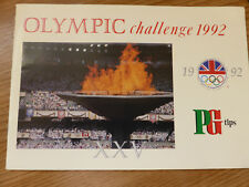 BROOK BOND TG TIPS OLYMPIC CHALLENGE 1992 - EMPTY ALBUM WITH ORDER FORM