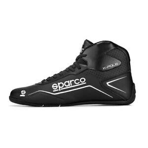 Sparco Kartschuh K-Pole - Schwarz/weiß - Neustes Modell - Karting Shoes black