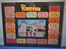 Riverview Amusement Park 1950's ~ Blue Streak Roller Coaster + 20 Tickets