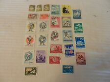 Lot of 26 Hungary Stamps, 1946, 1957, 1959 Postal Workers, Red Cross, Knights