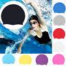 New Swimming Cap Waterproof Silicone Swim Pool Hat for Adult Men Long Hair Women