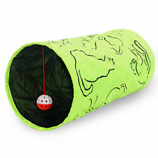 Pet Cat Dog Kitten Tunnel Rabbit Guinea Pig Collapsible Play Fun Toy With Ball