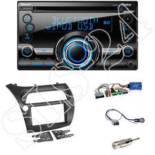 HONDA CIVIC VIII R S ab06 DOPPIO DIN Mascherina + adattatore volante + Clarion cx501e Radio