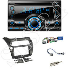 Honda Civic VIII R S ab06 Doppel-DIN Blende+Lenkradadapter+Clarion CX501E Radio
