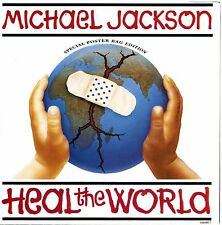 "MICHAEL JACKSON ""HEAL THE WORLD"" 7"" special poster bag edition NUOVO/MINT"