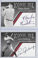 Babe Ruth Lou Gehrig Iconic Ink Facsimile Autograph Edition