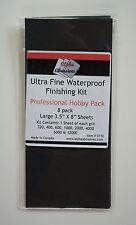 8 Sheets Alpha Abrasives, Ultra Fine Waterproof 320,400,600,1k,2k,4k,6k,12k