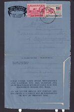 Malaya Malaysia Kedah 1963 Uprated Aerogramme Cover Alor Setar to S. India