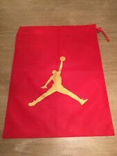 AIR JORDAN CUSTOM JUMPMAN LIGHT WEIGHT RED DRAW STRING BAG RED & GOLD!
