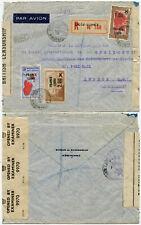 MADAGASCAR BRITISH CENSORSHIP TAPE WW2 DIEGO SUAREZ PoW AGENCY DOUBLE CENSORED