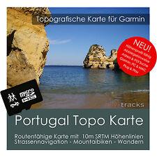 Portugal topo mapa GPS Garmin 10m líneas de curva de nivel 4gb microSD Garmin Navi, PC & Mac