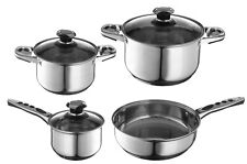 7 Piece Stainless Steel Cookware, Non Slip Handles Induction, Dishwasher Safe