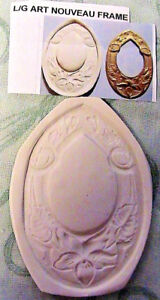 "*NEW* LARGE ART NOUVEAU FRAME Hard MOLD~3"" x 1-3/4"" wide *RARE~Fimo~Clay~soap"