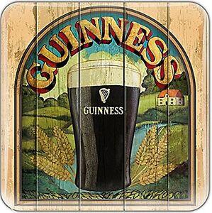 Guinness Pint / Country Scene epoxy fridge magnet  75mm x 75mm