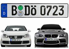 German Euro Plate With Registration Seals Random Characters New Free Shipping