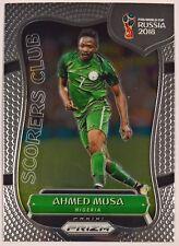 2018 Prizm Fifa World Cup Soccer Scorers Club Insert Nigeria Ahmed Musa SC-30