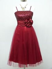 Cherlone Red Prom Party Ball Evening Formal Wedding Bridesmaid Dress Size 14-16