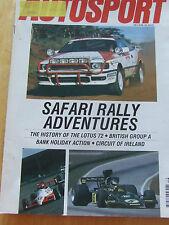 AUTOSPORT MAGAZINE APR 1990 SAFARI RALLY ADVENTURES LOTUS 72 IRELAND CIRCUIT