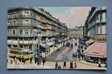 R&L Postcard: Lille, La Rue Faidherbe by LL, Trams, France