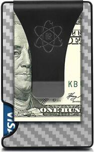 Slim Minimalist Front Pocket RFID Blocking Wallets for Men with Money Clip