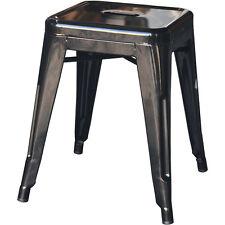 4x Tolix Low Stool Steel Replica Xavier Pauchard Metal Black - Melbourne VIC