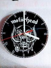 Motorhead Wall Clock  engraved acrylic man cave gift item