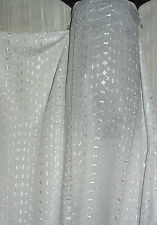 """White Embroidered Eyelet Sheer Polyester  and Cotton 50"""" Wide  By the yard"""