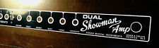 Replacement Faceplate for Blackface Fender DUAL Showman FMI Amp