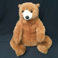 Plush Vintage Avanti Northern American Brown Bear 16 Inches Italy