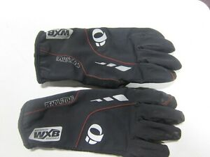 Pearl Izumi WXB Waterproof Out/Dry Men's XL Black Riding Gloves Pre Owned