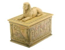 Ancient Egyptian Sphinx with Hieroglyphics Jewelry Trinket Box