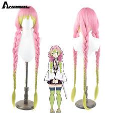 Demon Slayer Kanroji Mitsuri Wigs Kimetsu no Yaiba Pink Synthetic Cosplay Wig