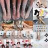 Women Fishnet Mesh Lace Flounce Socks Sheer Silky Glitter Short Ankle Stockings