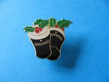 Guinness Christmas Pints Pin badge. Tulip Glass